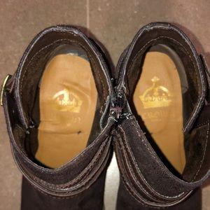 Crown Vintage Shoes - Brown Zip Up Boots